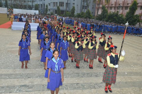School Band,  Girl Guides - Republic Day